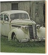 Antique Automobile Buick Wood Print