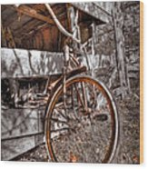 Antique Bicycle Wood Print