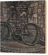 Antique Bicycle Wood Print by Susan Candelario