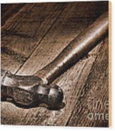 Antique Blacksmith Hammer Wood Print by Olivier Le Queinec