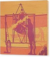 Antique Bleriot Airplane  Wood Print