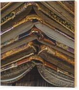 Antique Books Wood Print
