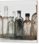 Antique Bottles Wood Print