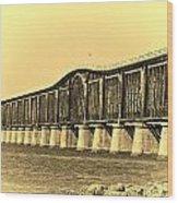 Antique Bridge Wood Print