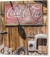 Antique Building At The Techatticup Gold Mine Wood Print
