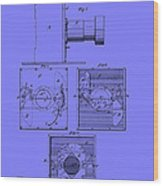 Antique Camera Patent 1883 Wood Print