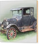Antique Car Wood Print