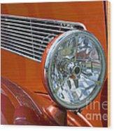 Antique Car Headlight Wood Print