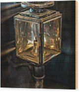 Antique Carriage Lamp Wood Print