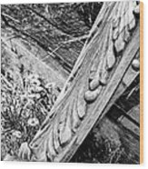Antique Carved Wood Facade Piece Wood Print