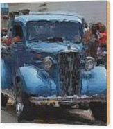 Antique Chevy Truck In Parade Wood Print