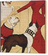 Antique Chicago Dog Show Poster Wood Print