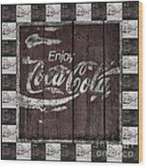 Antique Coca Cola Signs Wood Print