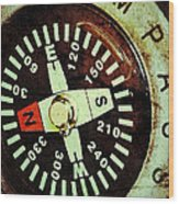 Antique Compass Wood Print