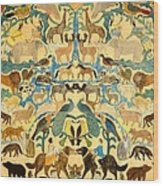 Antique Cutout Of Animals  Wood Print