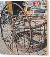 Fayetteville Texas Rings And Wheels Wood Print