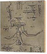 Antique Dental Chair Patent Wood Print