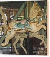 Antique Dentzel Menagerie Carousel Cat Wood Print by Rose Santuci-Sofranko