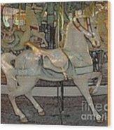 Antique Dentzel Menagerie Carousel Horse Colored Pencil Effect Wood Print