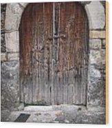 Antique Door Wood Wood Print