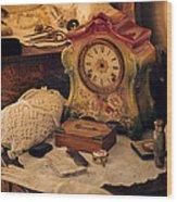 Antique Dresser  Wood Print by Maria Angelica Maira