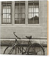 Antique English Bicycle Wood Print