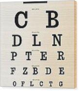 Antique Eye Chart Wood Print