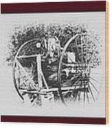 Antique Farm Machine Wood Print