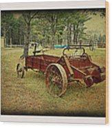 Antique Farm Wagon Wood Print by Dianne  Lacourciere