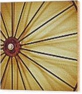 Antique Farm Wheel Wood Print by Carolyn Marshall