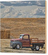 Antique Ford Truck Wood Print