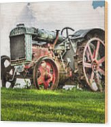 Antique Fordson Tractor - Americana Wood Print by Gary Heller