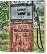 Antique Gas Pump 1 Wood Print