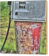 Antique Gas Pump 3 Wood Print