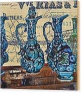 Antique Glass Wood Print