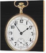 Antique Gold Pocketwatch Wood Print by Jim Hughes