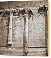 Antique Hammers Wood Print