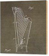 Antique Harp Patent Wood Print