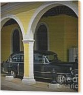 Antique Hearse In Havana Cemetary Wood Print