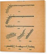 Antique Hockey Stick Patent 1935 Wood Print