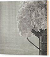Antique Hydrangea Wood Print