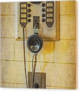 Antique Intercom Wood Print