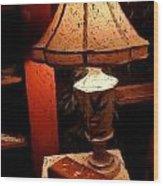 Antique Lamp Wood Print