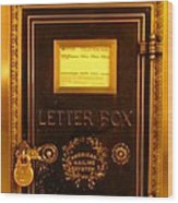 Antique Letter Box At The Brown Palace Hotel Wood Print