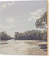Antique Mangrove Landscape Wood Print