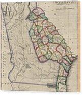 Antique Map Of Georgia By Samuel Lewis - Circa 1810 Wood Print
