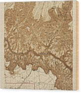 Antique Map Of Grand Canyon National Park - Usgs Topographic Map - 1903 Wood Print