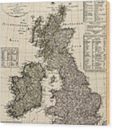 Antique Map Of Great Britain And Ireland By I. G. A. Weidner - 1801 Wood Print