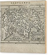 Antique Map Of Scotland By Abraham Ortelius - 1603 Wood Print by Blue Monocle