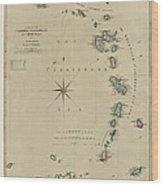 Antique Map Of The Caribbean - Lesser Antilles - By Mathew Richmond - 1789 Wood Print